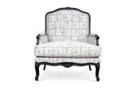 Louis C armchair & ottoman