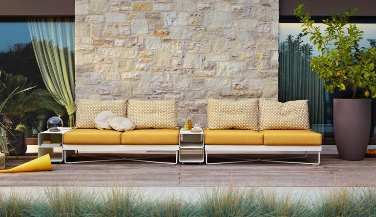 Coral reef fanuli furniture - Gelbe couch ...